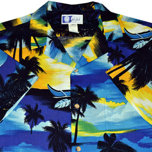 Mens Vintage RJC Hawaiian Floral Surf Shirt XL